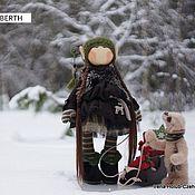 Куклы и игрушки ручной работы. Ярмарка Мастеров - ручная работа куколка Yusta & мишка Berth. Handmade.