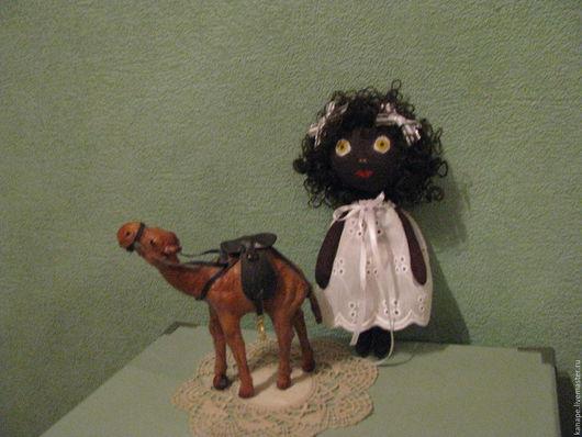 Куклы тыквоголовки ручной работы. Ярмарка Мастеров - ручная работа. Купить Маленькая африканочка. Handmade. Белый, кукла текстильная