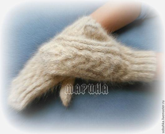 Варежки, митенки, перчатки ручной работы. Ярмарка Мастеров - ручная работа. Купить ВАРЕЖКИ собачий пух. Handmade. Разноцветный