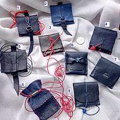 Accessories kits handmade. Livemaster - original item Leather chest bags. Handmade.