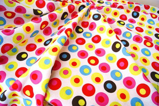 Шитье ручной работы. Ярмарка Мастеров - ручная работа. Купить Хлопок Разноцветные шары. Дания (оранический). Handmade. Комбинированный