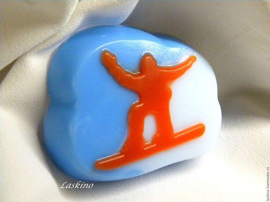 Мыло ручной работы. Ярмарка Мастеров - ручная работа. Купить Мыло СНОУБОРДИСТ (Сноуборд), сувенирное .. Handmade. Оранжевый, мыло для спортсмена