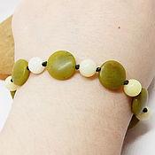 Украшения handmade. Livemaster - original item Berislav bracelet (jadeite, serpentinite). Handmade.