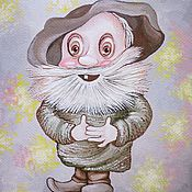 """Картины и панно ручной работы. Ярмарка Мастеров - ручная работа картина """"Дядюшка Ау"""". Handmade."""