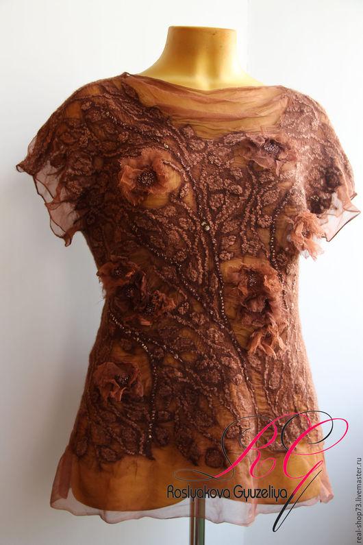 Блузки ручной работы. Ярмарка Мастеров - ручная работа. Купить Авторская блузка Бохо-шик. Handmade. Цветочный, одежда для женщин