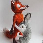 Куклы и игрушки ручной работы. Ярмарка Мастеров - ручная работа Лис и заяц. Не доступен заказу.. Handmade.