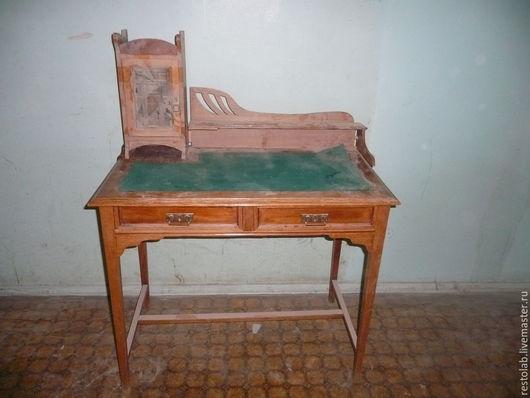 Реставрация. Ярмарка Мастеров - ручная работа. Купить Реставрация антикварного столика стиль модерн из дуба.. Handmade. Коричневый, отделка мебели