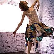 """Одежда ручной работы. Ярмарка Мастеров - ручная работа Шелковая юбка """"Бабочки"""". Handmade."""