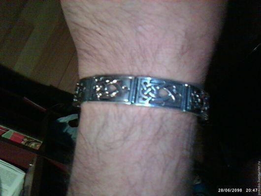 Браслеты ручной работы. Ярмарка Мастеров - ручная работа. Купить Кельтский браслет. Handmade. Серебряный, помолвочные браслеты, Серебро с чернением