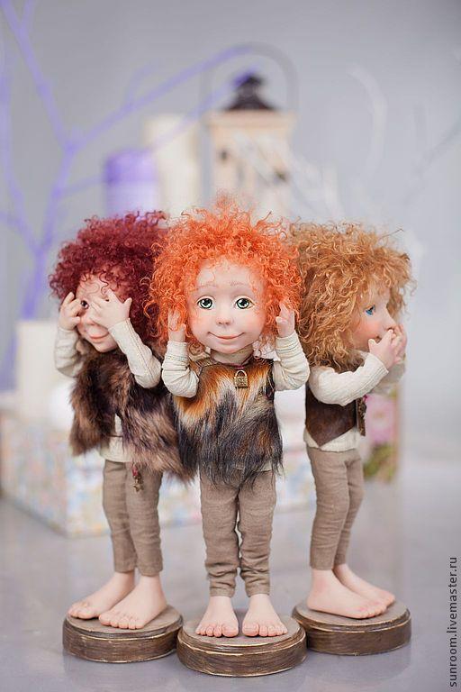 """Коллекционные куклы ручной работы. Ярмарка Мастеров - ручная работа. Купить По мотивам """"Нехочухи"""". Handmade. Хаки, оливковый, подарок"""