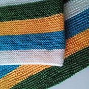 Для дома и интерьера ручной работы. Ярмарка Мастеров - ручная работа Детский полосатый плед. Handmade.