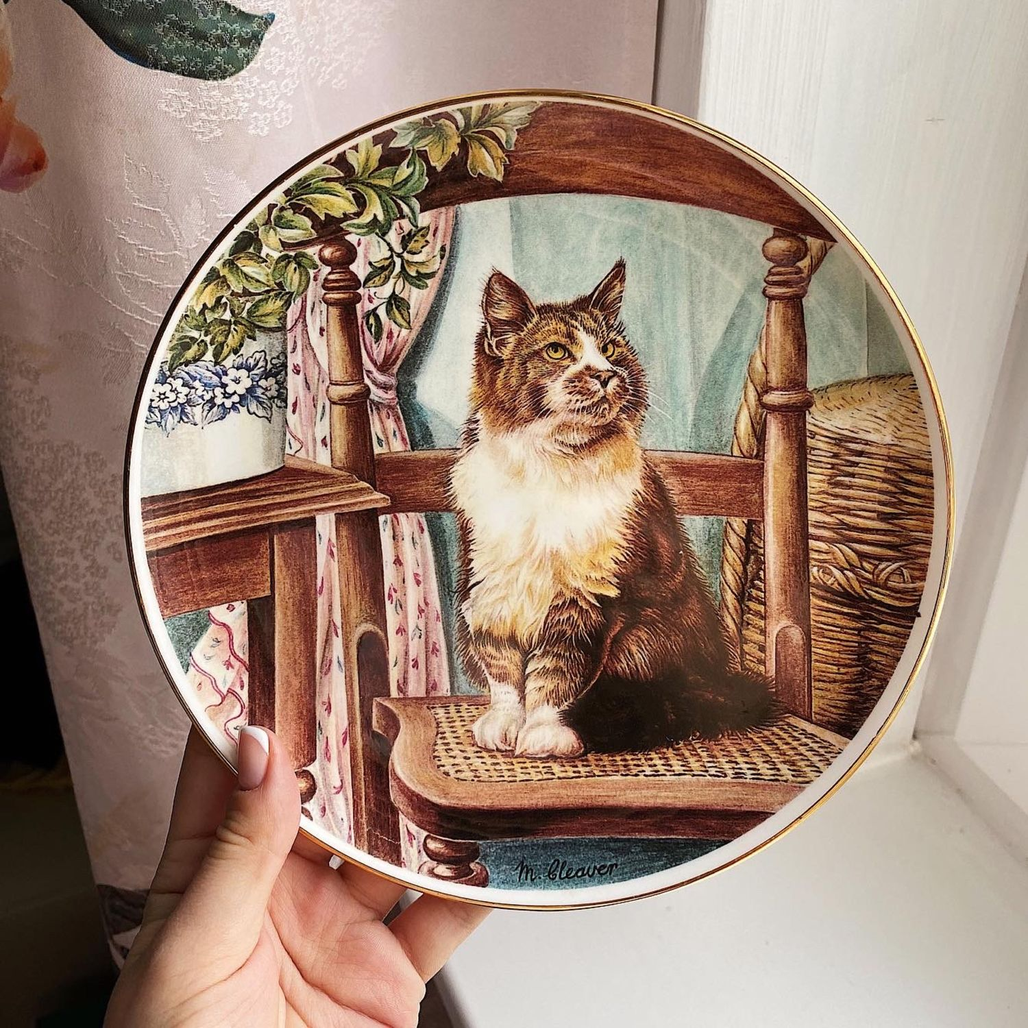 Hudson Middleton cat plate, England, 1995, Vintage plates, Moscow,  Фото №1