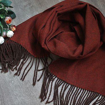 Accessories handmade. Livemaster - original item Scarf stole Terracotta female Merino. Handmade.