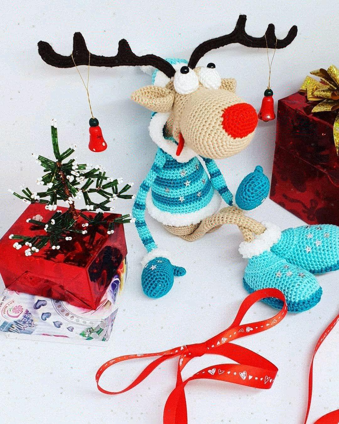 Олень вязанный, Мягкие игрушки, Волгоград,  Фото №1
