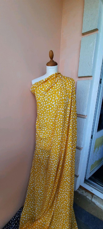 Ткань штапель жёлтый ФМа 01.1, Ткани, Москва,  Фото №1