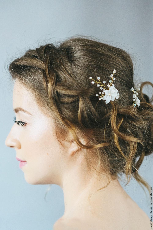 Заколки для волос при свадебной прическе