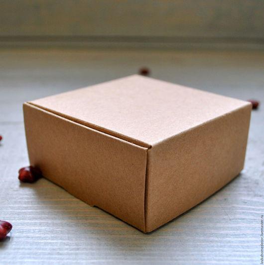 Коробка крафт 9х9х4см, 2641