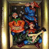 """Картины и панно ручной работы. Ярмарка Мастеров - ручная работа """"Скоморохи"""". Handmade."""