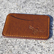 Сумки и аксессуары handmade. Livemaster - original item The image card Holder leather Horween Chromexcel Pull Up. Handmade.