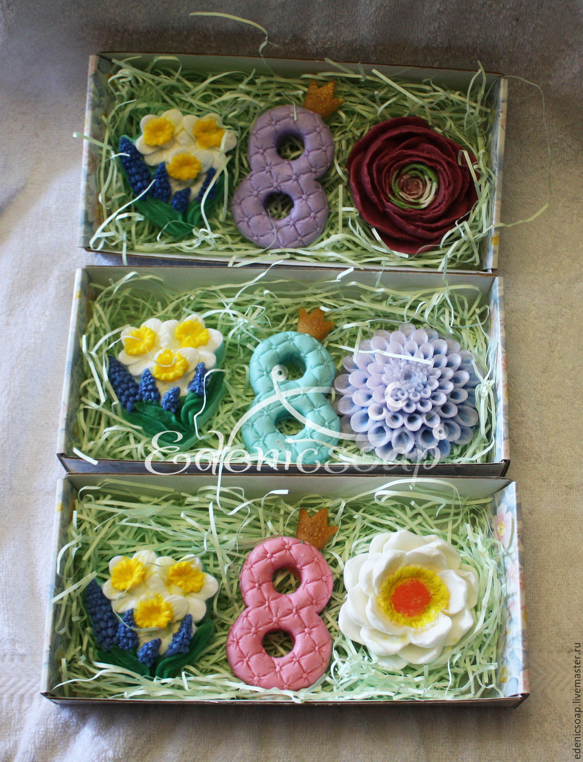 Gift sets handmade soap. Gifts for March 8.Edenicsoap.