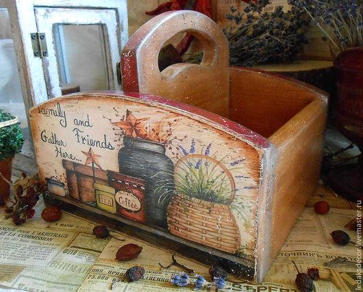 """Корзины, коробы ручной работы. Ярмарка Мастеров - ручная работа. Купить Короб для специй """"Дом в стиле кантри -2"""". Handmade."""