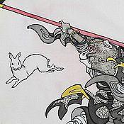 Картины и панно ручной работы. Ярмарка Мастеров - ручная работа Царь обезьян и лунный заяц. Handmade.