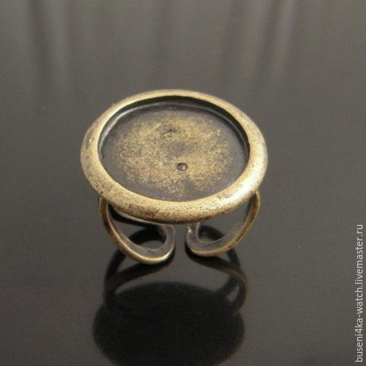Для украшений ручной работы. Ярмарка Мастеров - ручная работа. Купить Основа для кольца Круг 20мм, ант.бронза (1шт). Handmade.