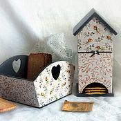 Для дома и интерьера handmade. Livemaster - original item set for tea party ,kitchen