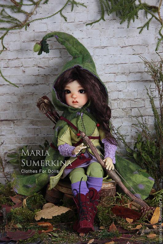 Одежда для кукол ручной работы. Ярмарка Мастеров - ручная работа. Купить Одежда для бжд. Handmade. Зеленый, обувь для кукол, замша