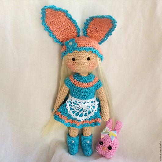 Человечки ручной работы. Ярмарка Мастеров - ручная работа. Купить Зайчишка, вязаная куколка. Handmade. Кукла крючком, вязанная игрушка