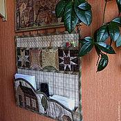 Для дома и интерьера ручной работы. Ярмарка Мастеров - ручная работа Текстильное панно с часами. Handmade.