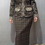 """Одежда ручной работы. Ярмарка Мастеров - ручная работа Жакет """" Серая шейка"""". Handmade."""