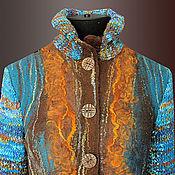 """Одежда ручной работы. Ярмарка Мастеров - ручная работа жакет валяный с вязаными рукавами """"Нескучная прогулка"""". Handmade."""