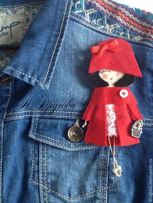 Броши ручной работы. Ярмарка Мастеров - ручная работа. Купить Брошь-куколка. Handmade. Комбинированный, брошь куколка