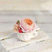 Куклы и игрушки ручной работы. Ярмарка Мастеров - ручная работа Мини-букеты с пионовидными розами в масштабе 1/12. Handmade.