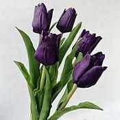 Композиции ручной работы. Ярмарка Мастеров - ручная работа Тюльпаны из полимерной глины (холодный фарфор). Handmade.