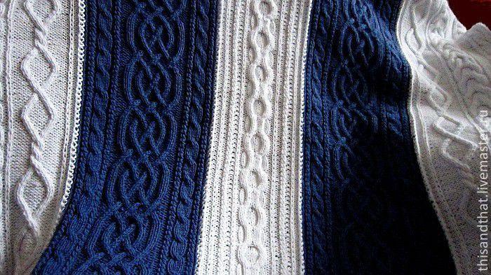 пледы вязанные спицами фото