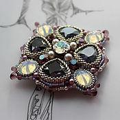 "Украшения handmade. Livemaster - original item ""Blueberry liqueur"" - transformer brooch-pendant , 2 in 1. Handmade."
