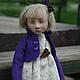 Коллекционные куклы ручной работы. Ярмарка Мастеров - ручная работа. Купить Девочка со скакалкой. Handmade. Тёмно-фиолетовый