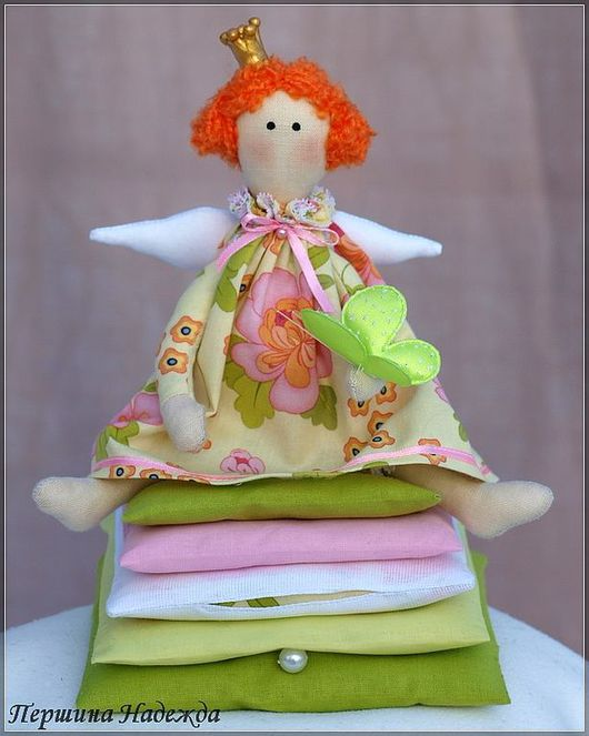 Куклы Тильды ручной работы. Ярмарка Мастеров - ручная работа. Купить Принцесса на горошине Рыжик. Handmade. Интерьерная игрушка, подарок