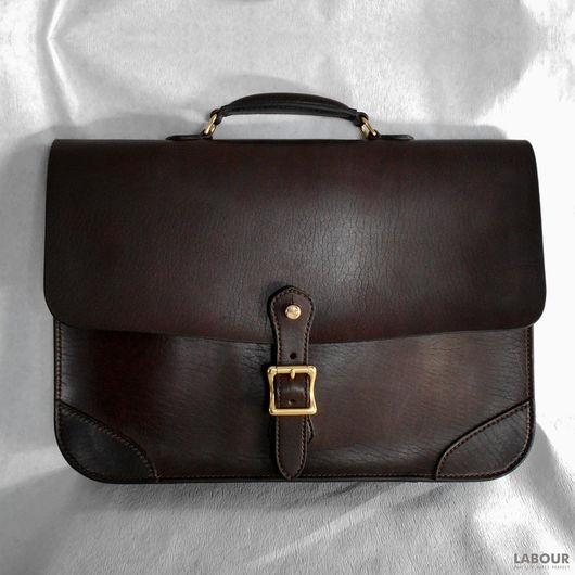 Мужские сумки ручной работы. Ярмарка Мастеров - ручная работа. Купить Портфель кожаный в деловом стиле мод.2. Handmade.