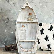 Для дома и интерьера ручной работы. Ярмарка Мастеров - ручная работа Полка-лодка для хранения мелочей «Simple White». Handmade.
