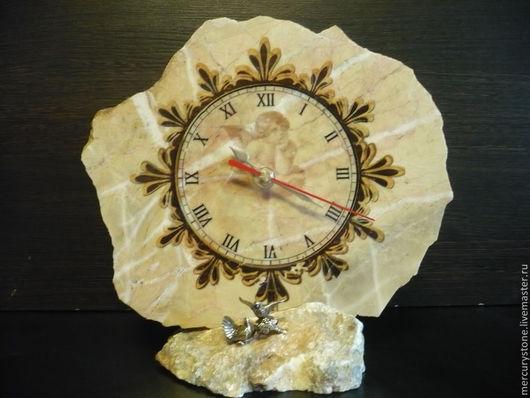 Роспись по камню ручной работы. Ярмарка Мастеров - ручная работа. Купить часы из природного камня. Handmade. Часы, итерьер, мрамор