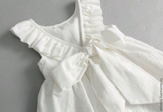 Одежда для девочек, ручной работы. Ярмарка Мастеров - ручная работа. Купить Платье. Handmade. Платье для девочки, на лето, атласная лента