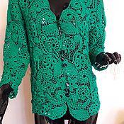 Одежда handmade. Livemaster - original item Jacket Emerald. Handmade.