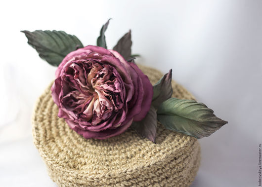 Цветы ручной работы. Ярмарка Мастеров - ручная работа. Купить Винтажная английская роза. Handmade. Бордовый, цветочные украшения