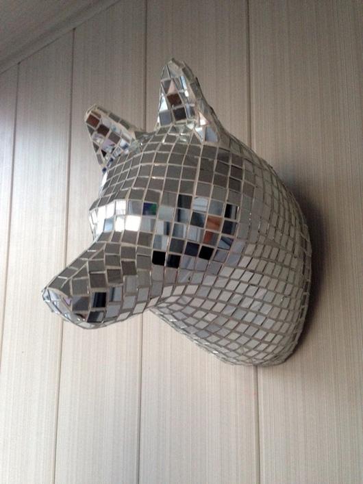 """Интерьерные  маски ручной работы. Ярмарка Мастеров - ручная работа. Купить """"Husky"""". Handmade. Собака, арт-объект, голова, на стену"""