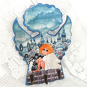 Для дома и интерьера handmade. Livemaster - original item The housekeeper is an angel over the city. Handmade.