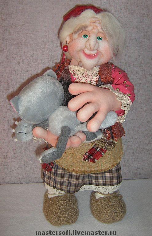 Сказочные персонажи ручной работы. Ярмарка Мастеров - ручная работа. Купить Добрая Яга. Handmade. Баба-яга, авторская кукла