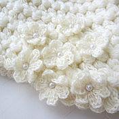Snudy1 handmade. Livemaster - original item Little warm Snood Winter flowers boho. Handmade.